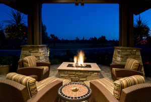 outdoor stone fire pit denver