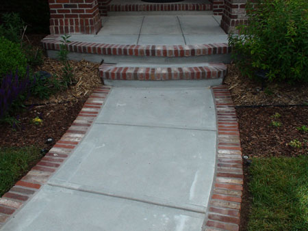 Front porch on pinterest brick steps paint shutters and for Brick sidewalk edging